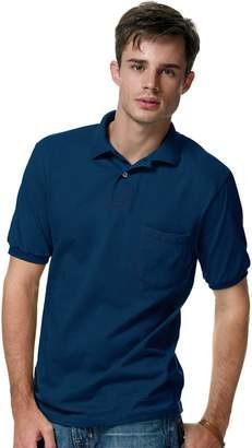 Hanes ComfortBlend Cotton-Blend Jersey Men's Polo with Pocket