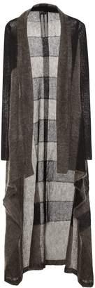 Rick Owens Striped mohair-blend cardigan