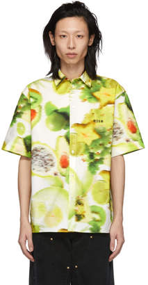 MSGM Multicolor Fruit Graphic Shirt