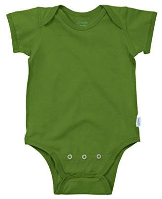 I Play Organic Cotton Short Sleeve Bodysuit (6-12 Months, Olive Green)