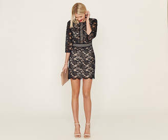 Oasis 3/4 SLEEVE LACE SHIFT DRESS