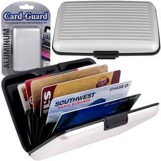 Trademark Home Collection Aluminum Credit Card Wallet - RFID Blocking Case - Silver