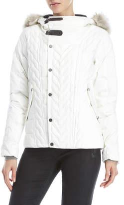 Sorel Aylwin Real Fur Trim Hooded Down Jacket