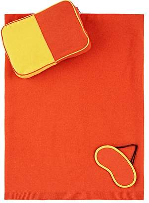 Lisa Perry Colorblocked Cashmere Travel Set