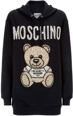 Moschino Embellished Teddy Hoodie