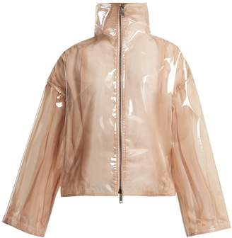 Valentino Stand-collar semi-sheer vinyl jacket