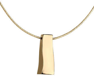 Tag Heuer FINE JEWELLERY 14K Yellow Gold Polished Rectangular Drop Chain Necklace