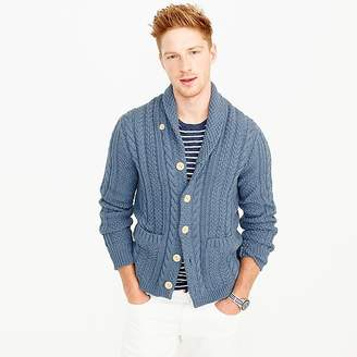 J.Crew Cotton cable cardigan sweater