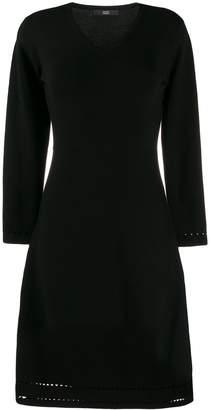 Steffen Schraut v-neck knitted cut-out dress