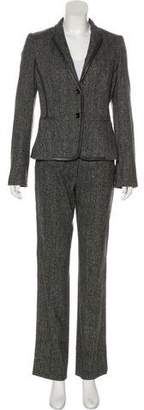 Dolce & Gabbana Wool Leather-Trimmed Pantsuit