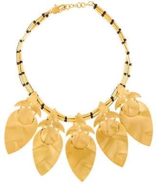 Tory Burch Hammered Leaf Short Necklace