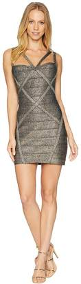 Bebe Double Strap Bandage Dress Women's Dress