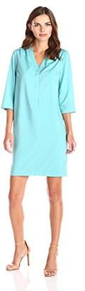Lark & Ro Women's Three Quarter Sleeve Shift Dress
