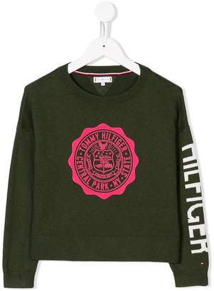 Tommy Hilfiger Junior logo knit jumper