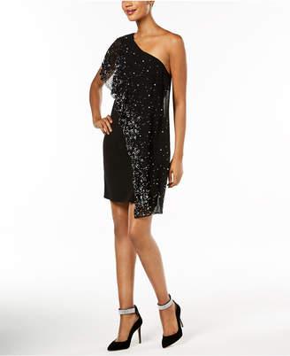 MSK Embellished One-Shoulder Shift Dress