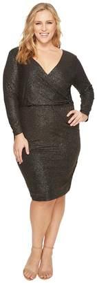 Sangria Plus Size Metallic Dress Women's Dress