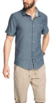 Esprit edc by Men's 056CC2F006-Modischer Denim-Optik Leisure Shirt,XS