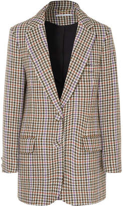 Emilia Wickstead Michelle Houndstooth Tweed Blazer - Gray