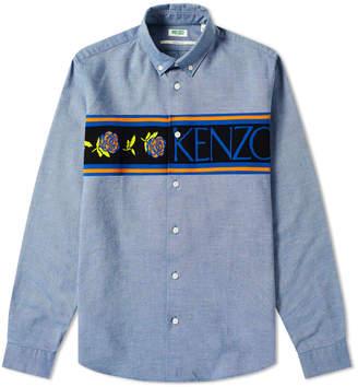 Kenzo Logo Knit Band Oxford Shirt
