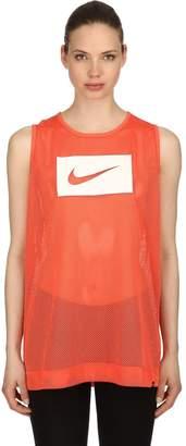 Nike Swoosh Print Mesh Tank Top