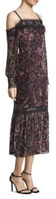 Nanette Lepore Picadilly Cold-Shoulder Midi Dress