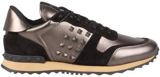 Valentino Rockrunner Laminated Sneakers