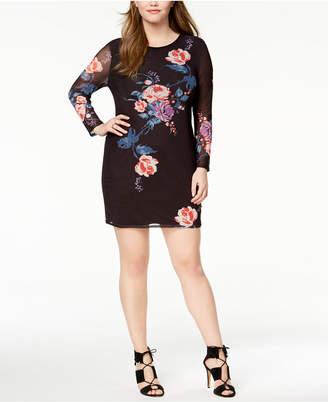 Say What Trendy Plus Size Mesh Bodycon Dress