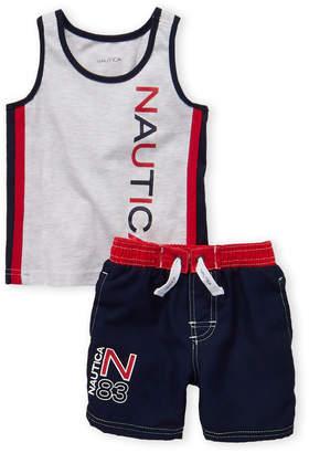 Nautica Toddler Boys) Two-Piece Logo Tank & Swim Shorts Set