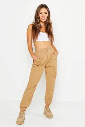 boohoo Petite Pocket Detail Cargo Pants