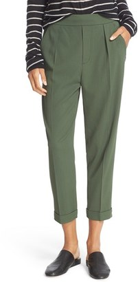 Women's Vince Pull-On Tapered Crop Trousers $345 thestylecure.com
