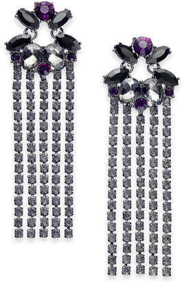 INC International Concepts I.n.c. Crystal Fringe Drop Earrings
