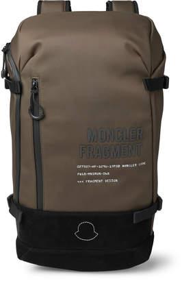 Moncler Genius - 7 Fragment Suede-Trimmed Shell Backpack - Men - Green