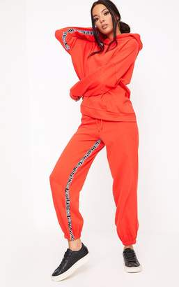 PrettyLittleThing Red Branded Joggers