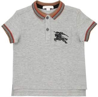 Burberry Logo Embroidered Cotton Piqué Polo