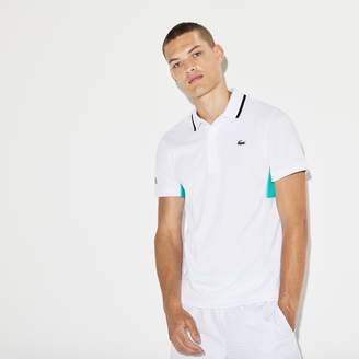 Lacoste Men's SPORT Net Print Pique Tennis Polo
