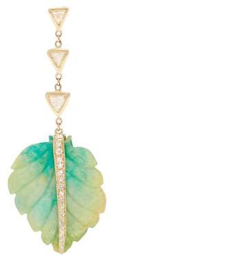 Jacquie Aiche Diamond, Opal & Gold Single Palm Earring - Womens - Blue