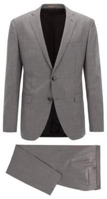 BOSS Hugo Sharkskin Wool Suit, Extra Slim Fit Reyno/Wave 36S Open Grey