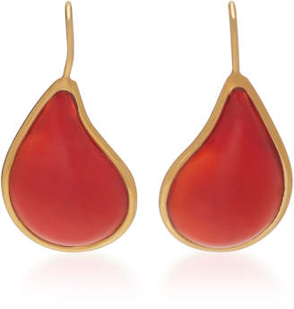 Loulou de la Falaise 24K Gold-Plated Stone Earrings