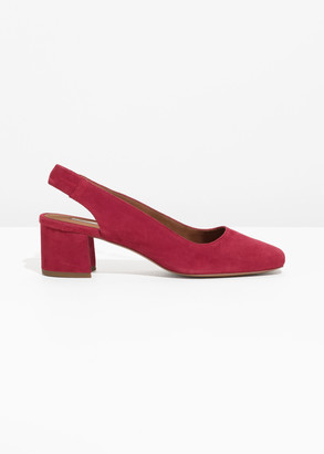 And other stories Suede Slingback Ballet Pumps