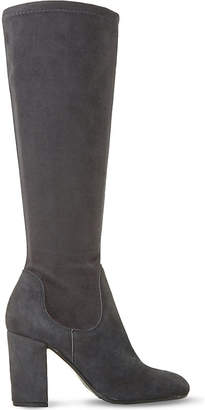 Dune Under the knee suede stretch boot