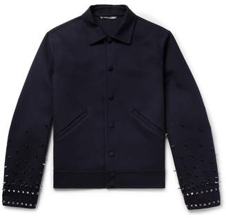 Valentino Studded Virgin Wool And Cashmere-Blend Jacket