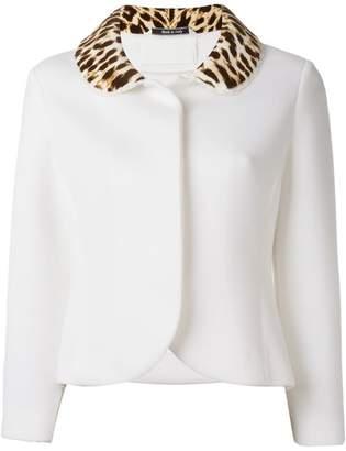 Maison Margiela leopard print collar jacket