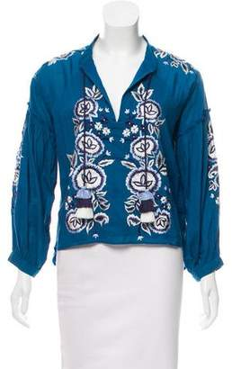 MISA Los Angeles Embroidered Long Sleeve Top