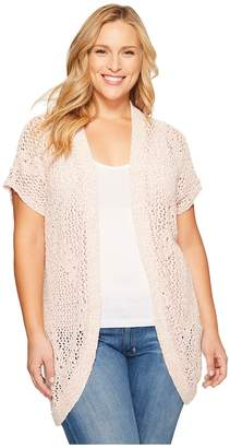 Bobeau B Collection by Plus Size Ysabel Dolman Sleeve Cardigan Women's Sweater
