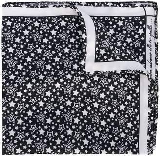 fe-fe star print pocket square