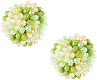 Emily and Ashley Greenbeads By Mint Beaded Stud Earrings