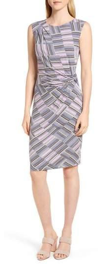 NIC + ZOE Pop Stripe Side Twist Dress