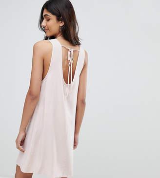 Glamorous Tall Sleeveless Shift Dress With Tie Back