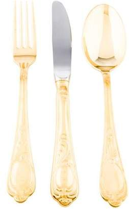 71-Piece Solingen Wein Gold Plated Flatware Set
