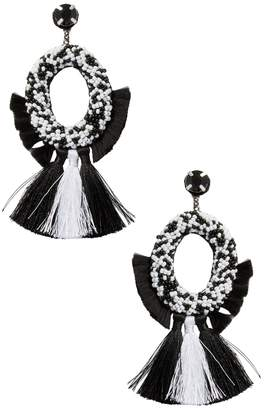 Deepa Gurnani Women's Fringe Tassel Statement Earrings
